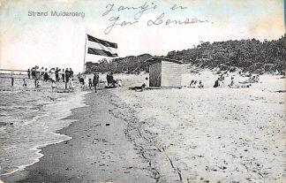 Ansichtkaart Muiderberg Strand aan de Zuiderzee 1918 HC13857