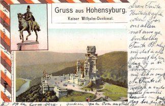 Ansichtkaart Duitsland Gruss aus Hohensyburg Kaiser Wilhelm-Denkmal Kleinrondstempel Horde 1903 Deutschland Europa  HC13882