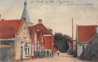 Ansichtkaart Sloten (NH) Dorpsstraat met soldaten Militair Amsterdam HC13896
