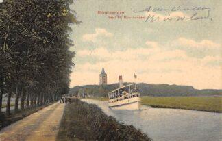 Ansichtkaart Monnickendam Vaart bij Monnikendam Binnenvaart schepen Scheepvaart 1907 HC13902