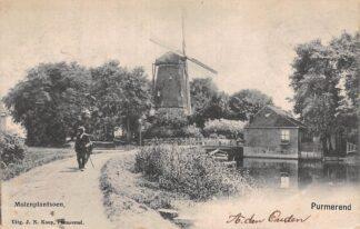 Ansichtkaart Purmerend Molenplantsoen Molen 1903 HC13912