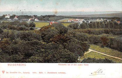 Ansichtkaart Muiderberg panorama van af den ouden Toren 1905 HC13958