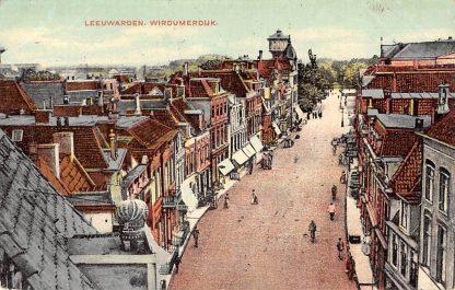Ansichtkaart Leeuwarden Wirdumerdijk met watertoren 1909 HC13965