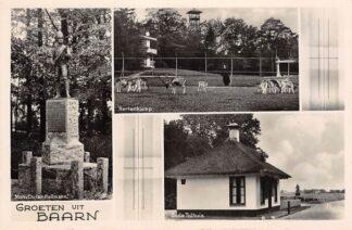 Ansichtkaart Baarn Groeten uit 1942 Hertenkamp Oude Tolhuis en Monument Christ. Pullmann HC13971