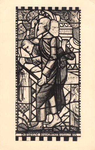 Ansichtkaart Baarn Het Zendingscentrum Gebrandschilderd raam van marius Richters 1947 HC13979