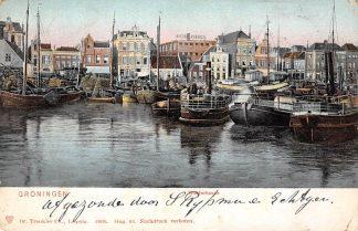Ansichtkaart Groningen Westerhaven 1905 Binnenvaart schepen Scheepvaart HC13980
