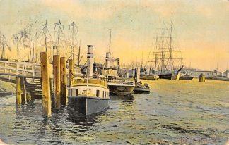 Ansichtkaart Rotterdam Rijnhaven met loodsboot Holland Amerika Lijn Schepen 1907 HC14046