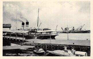Ansichtkaart Vlissingen Buitenhaven met schepen en veerpont Scheepvaart HC14052