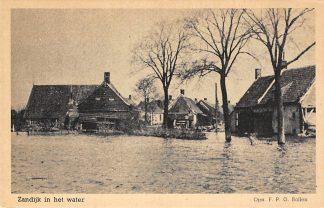 Ansichtkaart Veere Zanddijk in het water HC14086