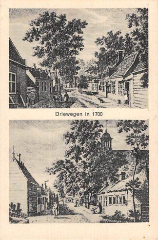 Ansichtkaart Driewegen in 1700 Borsele Zuid-Beveland HC14098