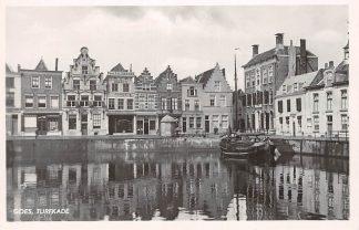 Ansichtkaart Goes Turfkade met binnenvaart schip Scheepvaart HC14109