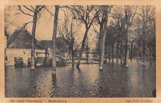 Ansichtkaart Middelburg De oude Visscherij watersnood HC14133