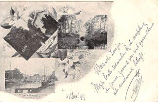 Ansichtkaart Amersfoort 1899 Monnikendam Plantsoen Haven a/d Koppel Binnenvaart schepen HC14136