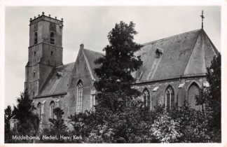 Ansichtkaart Middelharnis Nederl. Hervormde Kerk 1943 HC14143