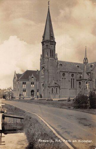 Ansichtkaart Reeuwijk Dorp R.K. Kerk en Klooster 1942 Newo fotokaart  HC14155