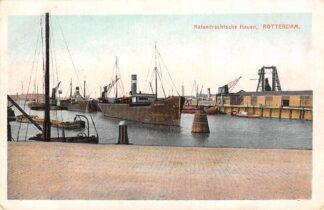 Ansichtkaart Rotterdam Katendrechtse Haven met schepen Scheepvaart HC14170