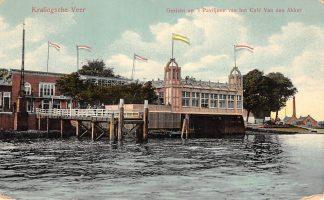 Ansichtkaart Rotterdam Kralingsche Veer Gezicht op 't Paviljoen van het Cafe Van den Akker 1910 HC14207