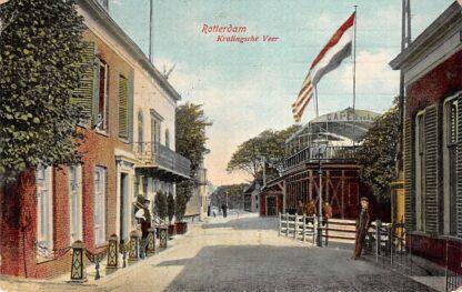 Ansichtkaart Rotterdam Kralingsche Veer Cafe Van den Akker 1906 HC14208