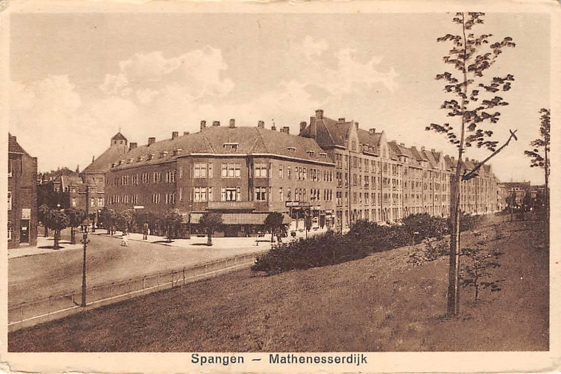 Ansichtkaart Rotterdam Spangen Mathenesserdijk Van Lennepstraat HC14361