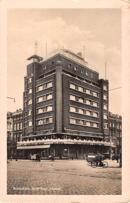Ansichtkaart Rotterdam Coolsingel Hotel Cafe Restaurant Taeroom Atlanta net voor de oorlog HC14428