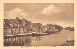 Ansichtkaart Leidschendam Delftschekade met Gemeentehuis HC14515