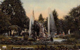 Ansichtkaart Groningen Heereplein Fontein 1910 HC14523