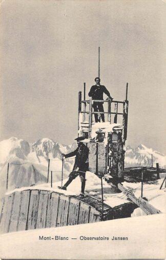 Ansichtkaart Zwitserland Mont-Blanc Observatoire Jansen Bergbelimmers Suisse Switzerland Europa HC14552