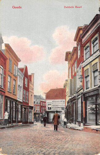Ansichtkaart Gouda Dubbele Buurt en Wijdstraat HC14637