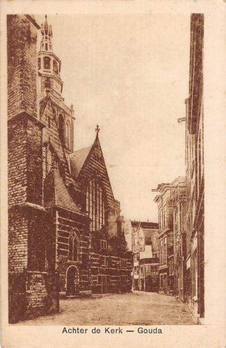 Ansichtkaart Gouda Achter de Kerk HC14681