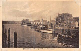 Ansichtkaart Dordrecht Havengezicht met Overzetveer Veer pont Bus Binnenvaart schepen Scheepvaart HC14799