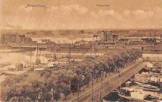 Ansichtkaart Amsterdam Panorama Schepen 1916 HC14945