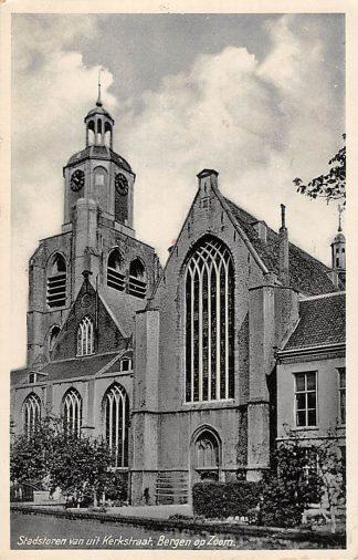 Ansichtkaart Bergen op Zoom Stadstoren van uit Kerkstraat 1939 HC14963