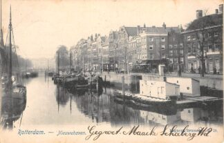 Ansichtkaart Rotterdam Nieuwehaven 1904 Binnenvaart schepen Scheepvaart HC14969