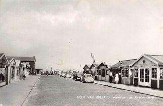 Ansichtkaart Hoek van Holland Winkelcentrum Kampeerterrein VW Auto 1963 HC14974