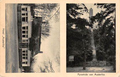 Ansichtkaart Zeist Hotel Austerlitz en Pyramide van Austerlitz 1949 HC14986