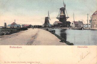 Ansichtkaart Rotterdam Overschie Molens aan de Schie 1904 HC14994