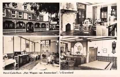 Ansichtkaart 's-Graveland Hotel Cafe Restaurant Het Wapen van Amsterdam 1947 Hilversum HC15022