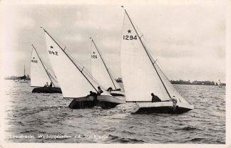 Ansichtkaart Loosdrecht Wedstrijdzeilen v.d. Star Klasse Zeil schepen Hilversum 1945 HC15024