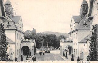 Ansichtkaart Duitsland Bad Nauheim Badehauser 8 Nord uns Sud mit gr. Sprudel 1908 Deutschland Europa HC15033