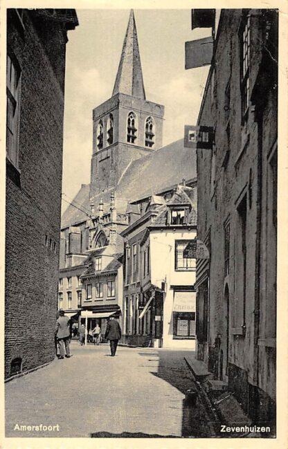 """Ansichtkaart Amersfoort """"Zevenhuizen"""" met kerk 1937 HC15061"""