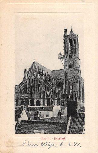 Ansichtkaart Utrecht Dom kerk in de steigers HC15063