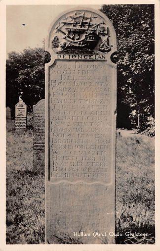 Ansichtkaart Hollum Ameland Begraafplaats Oude Grafsteen 1949 HC15120