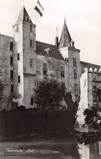 Ansichtkaart Burgh - Haamstede Slot met de vlag in top! HC15124