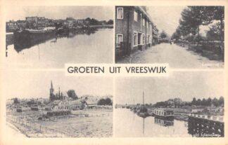 Ansichtkaart Vreeswijk Groeten uit 1948 Emmaweg haven Panoram HC15153