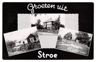 Ansichtkaart Stroe Groeten uit 1955 De Senaat Wolweg Het groene huisje Barneveld HC15157