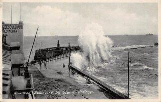 Ansichtkaart Vlissingen Boulevard bij Storm Noordzee Restaurant 1939 HC15170