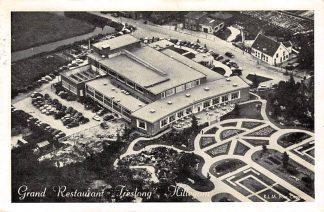 Ansichtkaart Hillegom Grand Restaurant Treslong KLM Luchtfoto 1960 HC15189