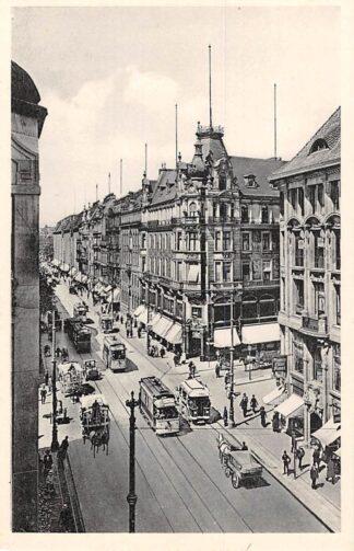 Ansichtkaart Duitsland Berlin Leipzigerstrasse Ecke Wilhelmstrasse Trams Deutschland Europa HC15198