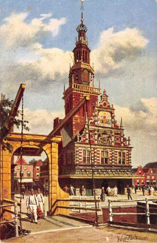 Ansichtkaart Alkmaar Kaaswaag Reclame stempel A. Henneman Kaashandelaar Illustrator Gerstenhauer HC15219