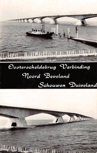Ansichtkaart Zeeland Oosterscheldebrug Verbinding Noord Beveland Schouwen Duiveland 1965 HC15225